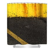 Yellow And Grey Wc  Shower Curtain
