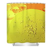 Yellow And Orange Oil Droplet On Water Shower Curtain
