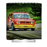 Yellow And Red Fiat 127 Shower Curtain