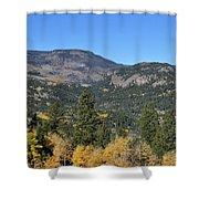 Yellow Aspen Shower Curtain