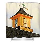 Yellow Barn Cupola Shower Curtain