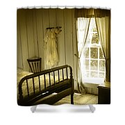 Yellow Bedroom Light Shower Curtain