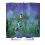 Yellow Bells Shower Curtain