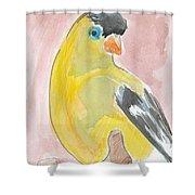Yellow Bird 56 Shower Curtain