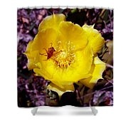 Yellow Blossom  Shower Curtain
