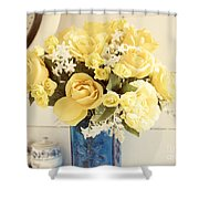 Yellow Bouquet Of Flowers Shower Curtain