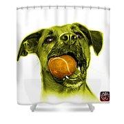 Yellow Boxer Mix Dog Art - 8173 - Wb Shower Curtain