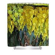 Yellow Buds Shower Curtain