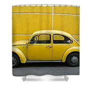 Yellow Bug Shower Curtain