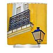 Yellow Building Shower Curtain