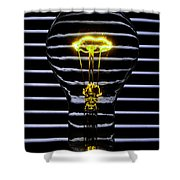 Yellow Bulb Shower Curtain