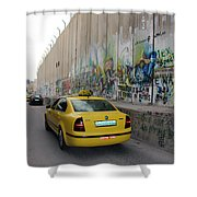Yellow Cab Shower Curtain