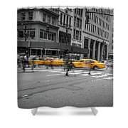Yellow Cab On Fifth Avenue, New York 4 Shower Curtain