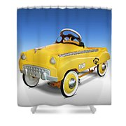 Yellow Cab Peddle Car Shower Curtain
