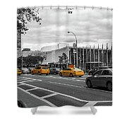 Yellow Cabs By The United Nations, New York 2 Shower Curtain