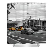 Yellow Cabs By The United Nations, New York 3 Shower Curtain