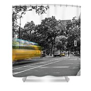 Yellow Cabs In Central Park, New York 4 Shower Curtain