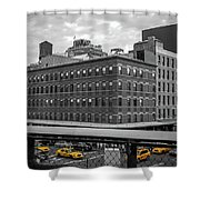 Yellow Cabs In Chelsea, New York 3 Shower Curtain
