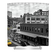 Yellow Cabs In Chelsea, New York 5 Shower Curtain