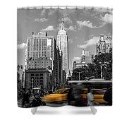 Yellow Cabs In Midtown Manhattan, New York Shower Curtain