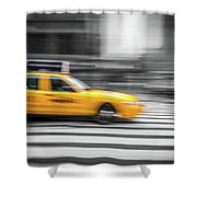 Yellow Cabs In New York 6 Shower Curtain