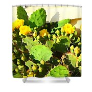 Yellow Cactus Blossoms 594 Shower Curtain