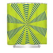 Yellow Cactus Spines Abstract Shower Curtain