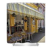 Yellow Cafe Shower Curtain