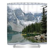 Yellow Canoe Shower Curtain