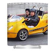 Yellow Car Shower Curtain