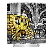 Yellow Carriage Shower Curtain