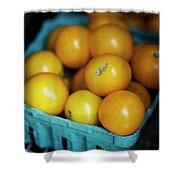 Yellow Cherry Tomatoes Shower Curtain