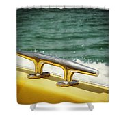 Yellow Cleat Shower Curtain