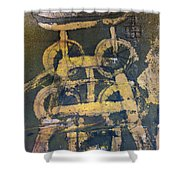 Yellow Colliery Shower Curtain
