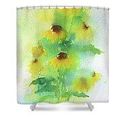 Yellow Coneflowers  Shower Curtain