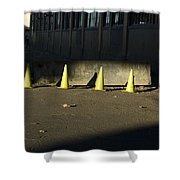 Yellow Cones Shower Curtain