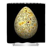 Yellow Conglomerate Egg Shower Curtain