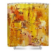 Yellow Conundrum Shower Curtain