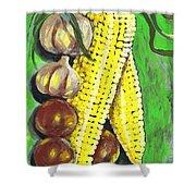 Yellow Corn Shower Curtain