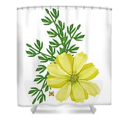 Yellow Cosmos Shower Curtain