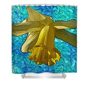 Yellow Daffodil 3 Shower Curtain