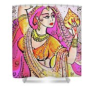 Yellow Devi Shower Curtain
