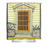 Yellow Door In Panama Shower Curtain