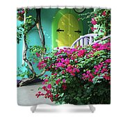 Yellow Door Shower Curtain by Michael Thomas