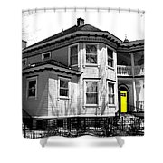 Yellow Door Shower Curtain by Will Borden