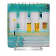Yellow Doors Shower Curtain