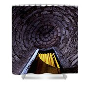 Yellow Doorway Abstract Shower Curtain