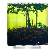 Yellow Dusk Shower Curtain