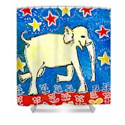 Yellow Elephant Facing Right Shower Curtain