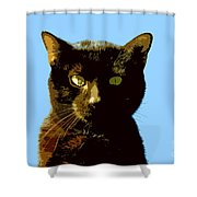 Yellow Eyes Shower Curtain